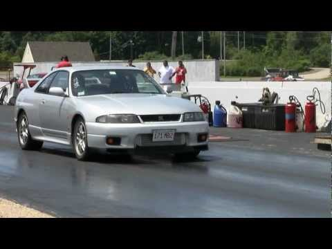 RHD JDM 1995 R33 Nissan Skyline drag race, 10 second skyline, Barry Primus Street Car