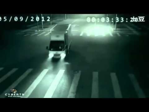 كاميرا مراقبة صورت حدث غريب في الصين