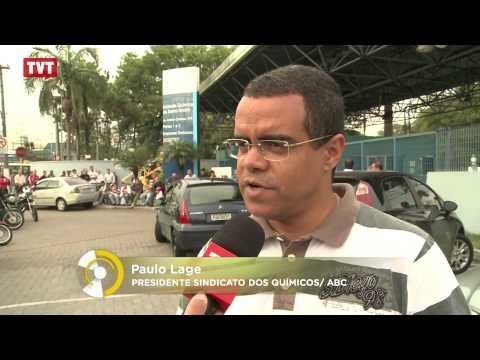 Rhodia Química: Trabalhadores protestam contra o fechamento da planta de Santo André