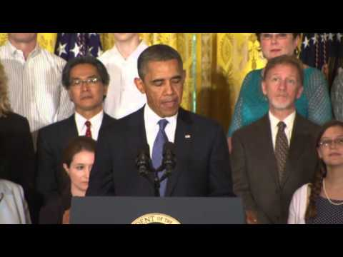 Obama Promotes Health Care Law Successes  7/18/13