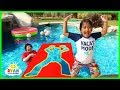 Jumping Through impossible Shapes into Water!!