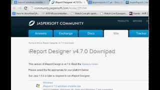Java prog#113. Reports : Jasper iReports: Getting started Download and installation