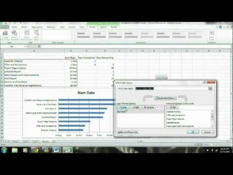 Gantt Chart -  Microsoft Excel 2010 Tutorial - How to make a Gantt Chart