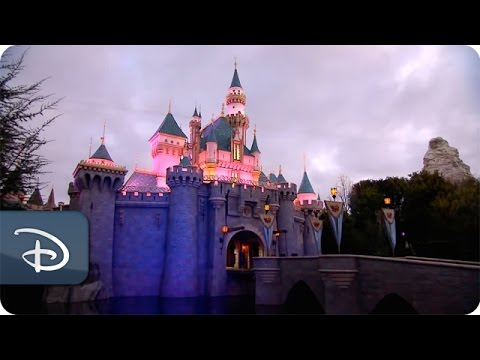 Disneyland at Dawn: Sleeping Beauty Castle