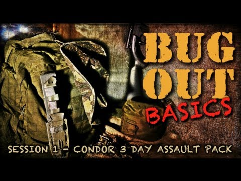 Bug Out Basics #1 - Condor 3-Day Assault Pack - Review - What to look for in a BOB Survival Bag?