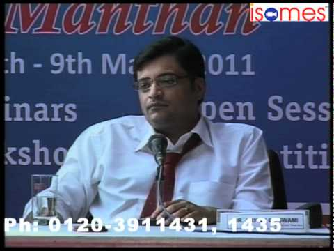 "Arnab Goswami and Ashutosh at ISOMES in Panel Debate at ""Manthan"" 3 days media fest of ISOMES (10)"