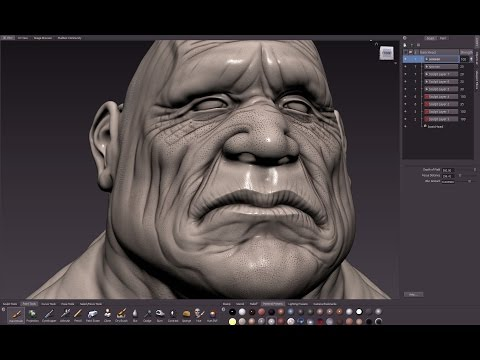 Mudbox head SPEED SCULPT - 'Bulldog'