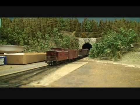 Large HO Scale Model Train Layout