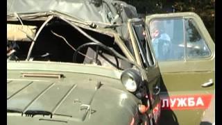 В Житомире перевернулся автомобиль медслужбы