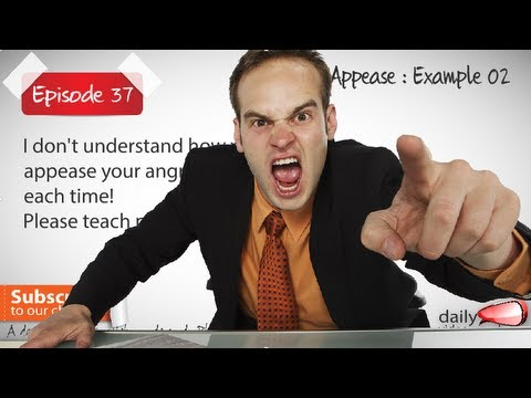 Daily Video vocabulary episode no 37 - Appease | Free English Lesson