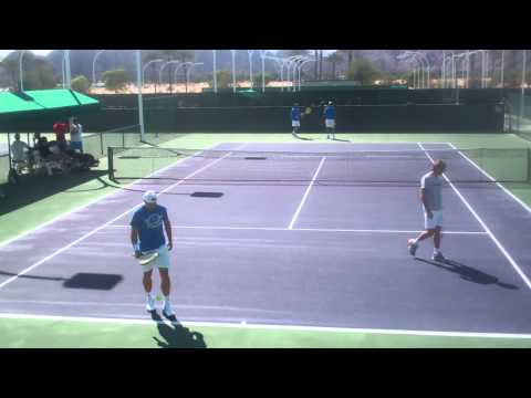 Rafael Nadal and David Ferrer Practice 2012 BNP Paribas HD!!!