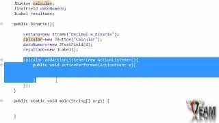 Tutoriales Java 16 - Convertir Decimal a Binario (Con gráficos(Swing))