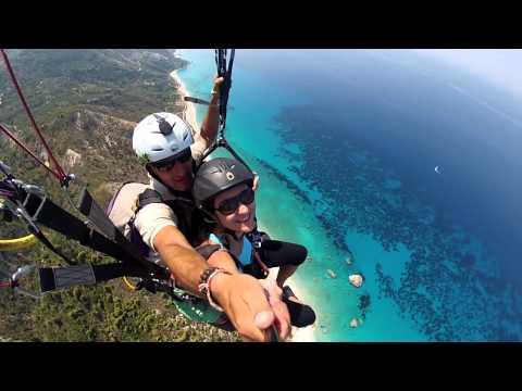 Amazing Paragliding over the sea, Lefkada @ GoPro HD 2013