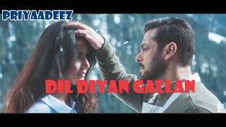Atif Aslam| Dil Diya Gallan| Full Song| With Lyrics| Salman Khan| Katrina Kaif
