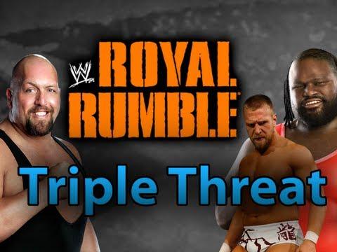 WWE 12 - Henry vs. Bryan (c) vs. Big Show at Royal Rumble 2012 (WWE Machinima)