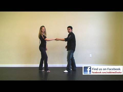 Salsa Dancing Basic Step from Swing Style