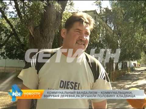 Коммунальщики, вырубая деревья, разрушили половину кладбища вДосчатом