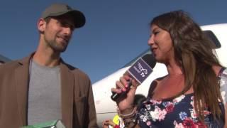 Entrevista Djokovic Llegada