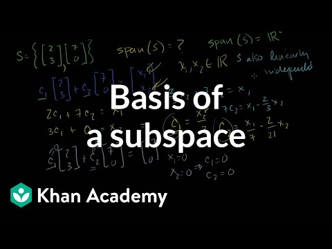 Linear Algebra: Basis of a Subspace