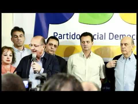 Partido liderado pelo atual prefeito de São Paulo, Gilberto Kassab, oficializou o apoio ao candidato do PSDB.