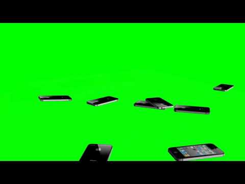 i phone 4 Crash-Test  - many phones fall to the ground - green screen effects