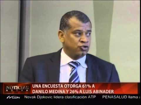 Una encuesta otorga 61% a Danilo Medina y 26% a Luis Abinader