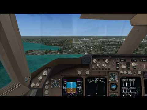 FSX Boeing 747 Landing Cockpit View