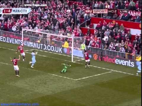 Man Utd 1 Manchester City 6 [HQ] derby day 23/10/2011 SIX ONE
