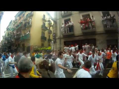 Pamplona Running of the Bulls 2012 - San Fermin 2012 - Headcam - 07/07/2012