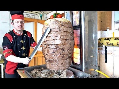Turkish Doner Kebab Recipe How to Make Meat Mince Semolina Doner