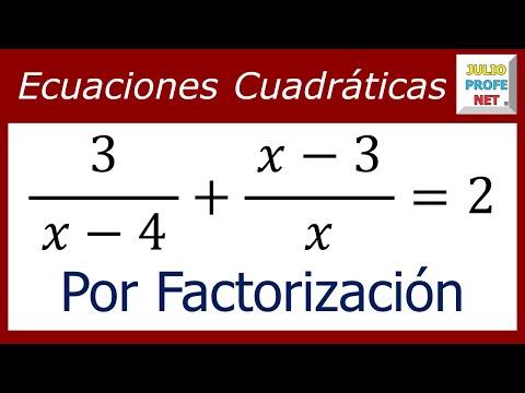 Ecuación cuadrática resuelta por factorización