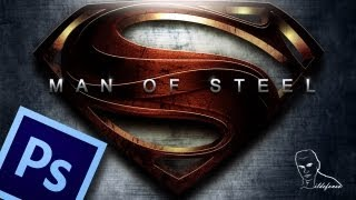 Tutorial Photoshop poster man of steel (Superman)
