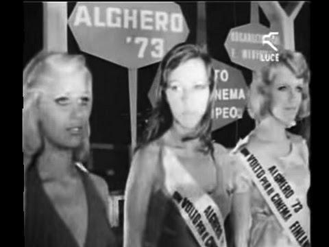 """Pippo Baudo presenta """"Un volto per il cinema europeo"""" / Alghero 1973"""
