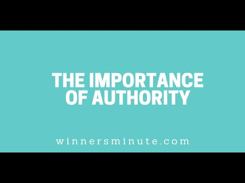 The Importance of Authority // The Winner's Minute With Mac Hammond