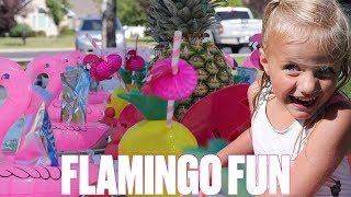 WIND STORM THREATENS TO BLOW AWAY KIDS FLAMINGO THEMED BIRTHDAY PARTY