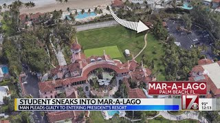 Student pleads guilty to sneaking into Mar-a-Lago
