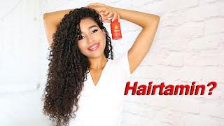 Growing my Naturally Curly Hair Long with HAIRtamin Hair Vitamins!
