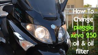 Cambio olio motore Piaggio Xevo 250