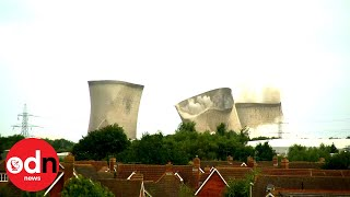 Epic Demolition of Didcot Power Station Leaves Homes Without Electricity
