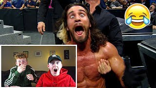REACTING TO THE TOP 100 FUNNIEST WWE MOMENTS!