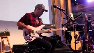 Get Lucky [Bass Loop Solo by Miki Santamaria] Live @ Yamsession 2014