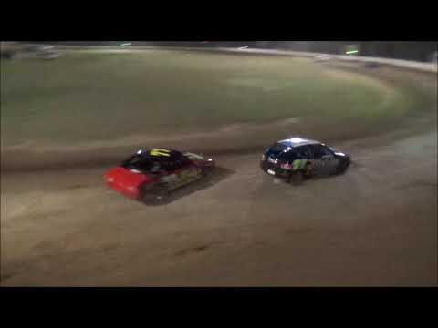 What was run of the 2019 NSW SSA Junior Sedan Title at Grafton Speedway before the storm hit. 09.02.19 - dirt track racing video image