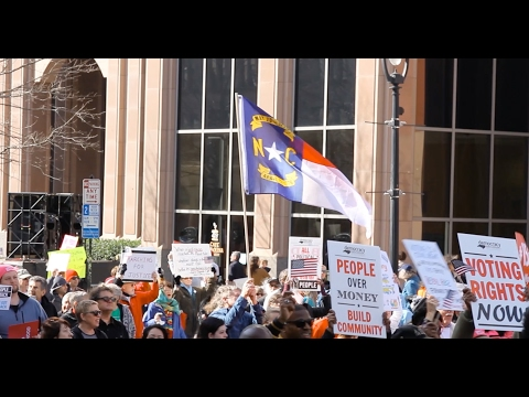 Thousands participated in the 11th annual Moral March on Raleigh February 11, part of the Historic Thousands on Jone's Street People's Assembly, a coalition of more than 125 North Carolina NAACP branches.