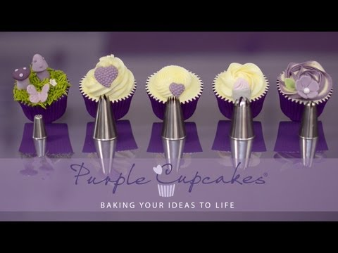 baking, buttercream and more. Flat Top Cupcakes and Swirls using favourite nozzles - Purple Cupcakes - UCxJhAxdHjFoPtnfTLQ2ap2A