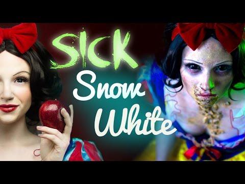 SICK SNOW WHITE Makeup Tutorial - Glam & Gore Disney Princess - UCoziFm3M4sHDq1kkx0UwtRw