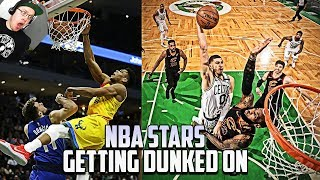 Reacting To Every NBA Star Getting Dunked On!