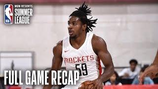 NUGGETS vs ROCKETS | Houston Victorious Behind Clemons, Adel | MGM Resorts NBA Summer League