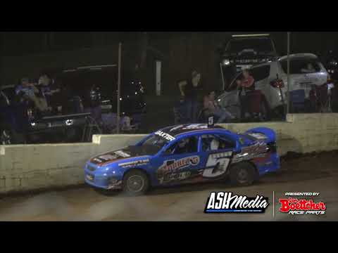 Thrills and Spills | 10th Apr 2021: Gympie Speedway - IBRP Production Sedan Mountain King Series - dirt track racing video image