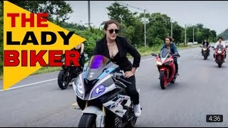 THE LADY BIKER! BIKE STUNT! _2019_TAC Vlogs BD