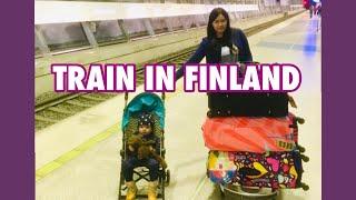 HOW TRAIN IN FINLAND LOOKS LIKE?   Children Cabin (Travel Vlog)